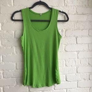 Lululemon size 4 lime green tank top